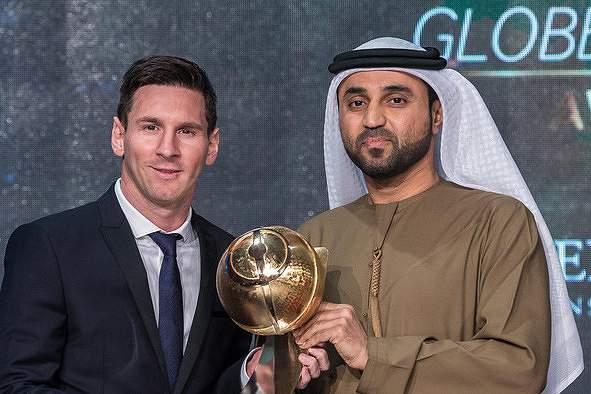 Messi distinguido como melhor jogador do ano nos Globe Soccer Awards
