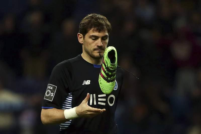 Iker Casillas no encontro entre o FC Porto e o Nacional