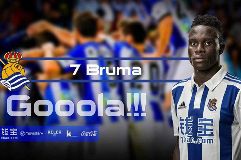 Bruma marca golo pela Real Sociedad