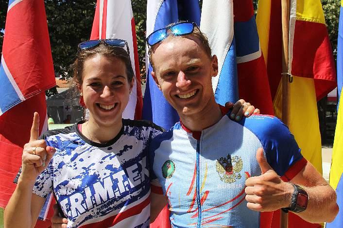 Anton Foliforov e Emily Benham 'sprintam' para a vitória em Cantanhede