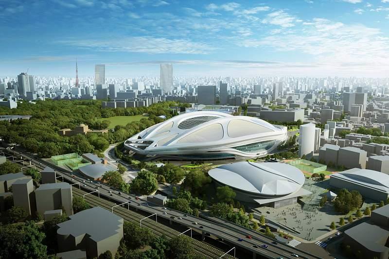 Futuro Estádio Olímpico de Tóquio para os Jogos Olímpicos