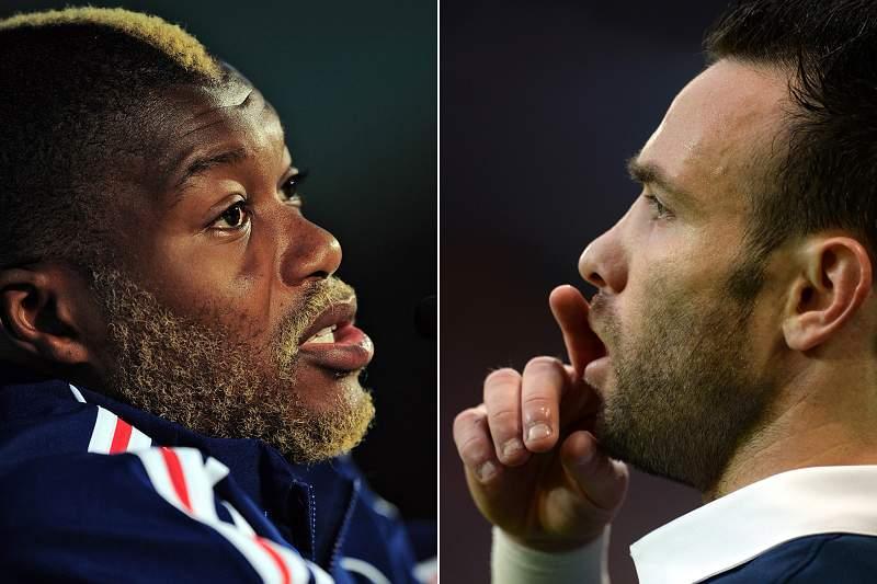 Djibril Cissé e Mathieu Valbuena