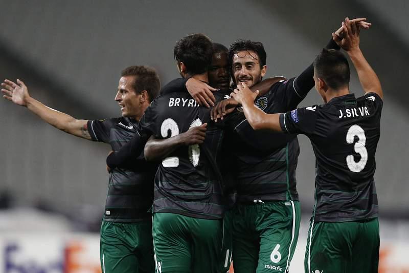 Sporting festeja golo na Turquia