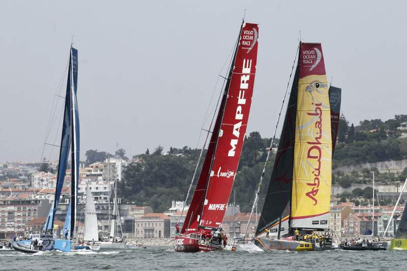 Volvo Ocean race In-Port Race in Lisbon