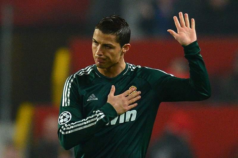 Cristiano Ronaldo regressou a Old Trafford em março de 2013 ao serviço do Real Madrid