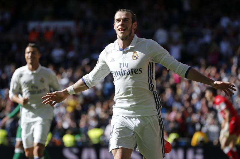 Gareth Bale festeja golo do Real Madrid