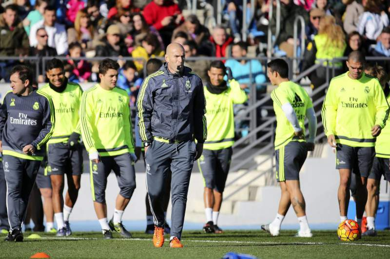 Real Madrid's new head coach Zinedine Zidane