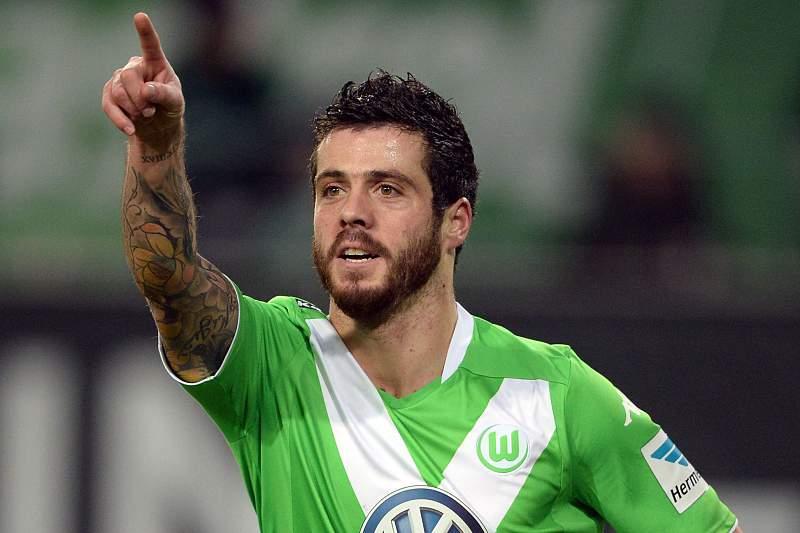 Vieirinha celebra golo pelo Wolfsburgo