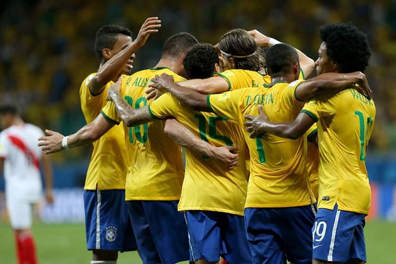 Seleção brasileira festeja