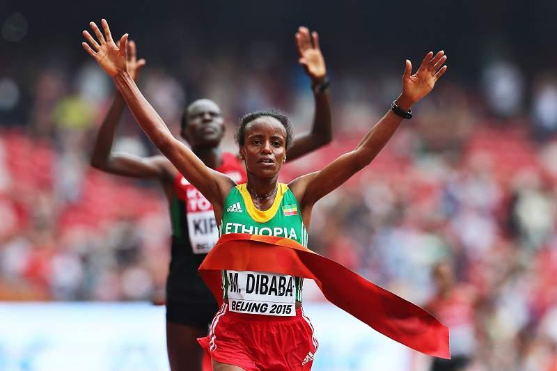 Mare Dibaba, campeã mundial da maratona
