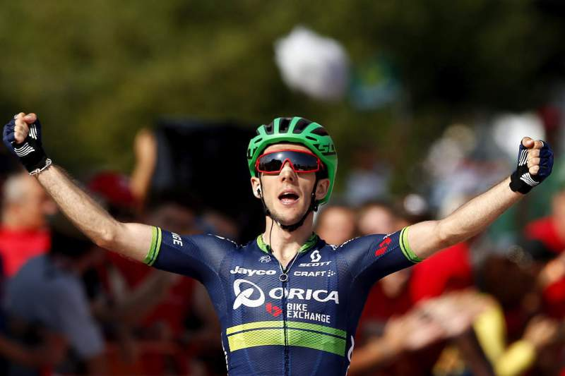 Simon Yates, ciclista britânico, na Vuelta
