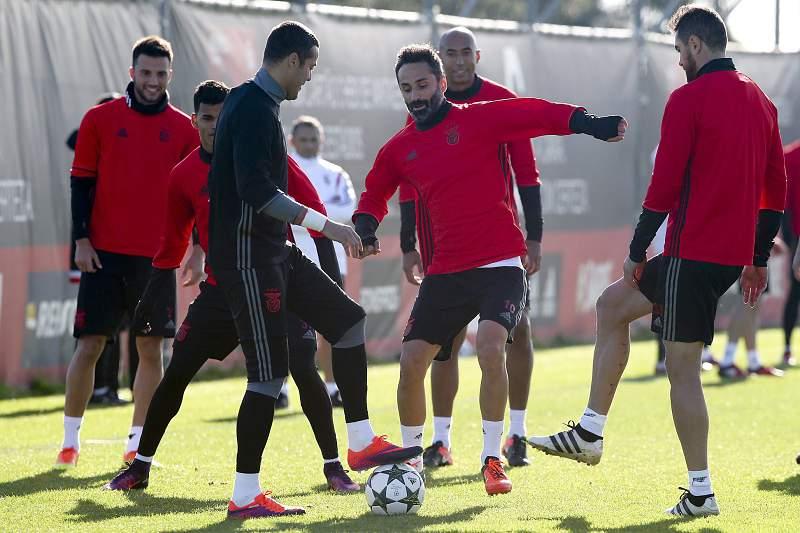Jardel durante um treino do Benfica no Centro de Estágios do Seixal