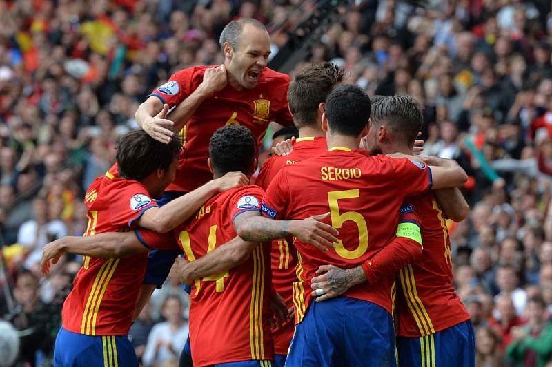 Espanha festeja golo