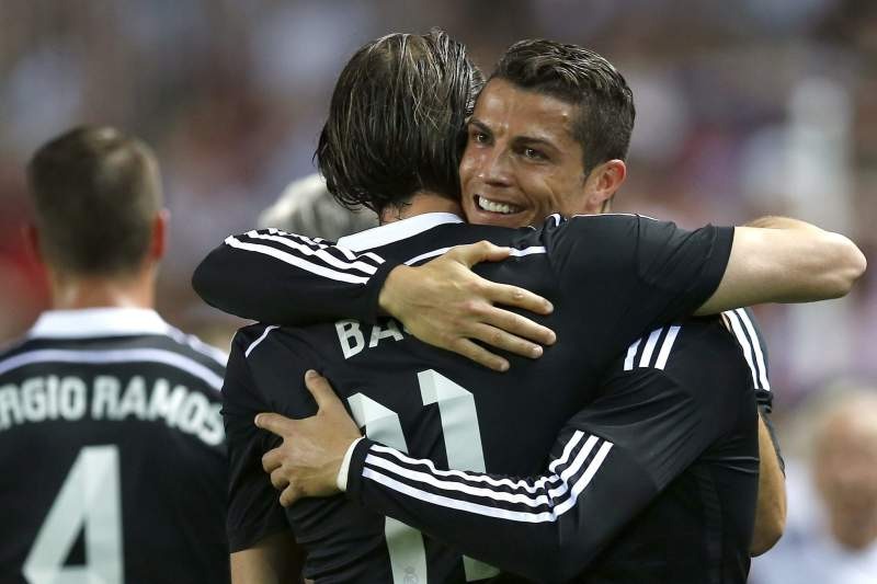 Bale e Cristiano Ronaldo