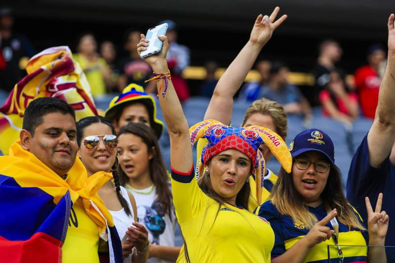 Adeptos da Colômbia