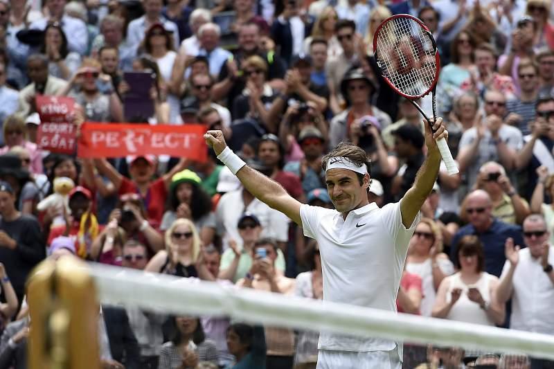Roger Federer em Wimbledon 2016