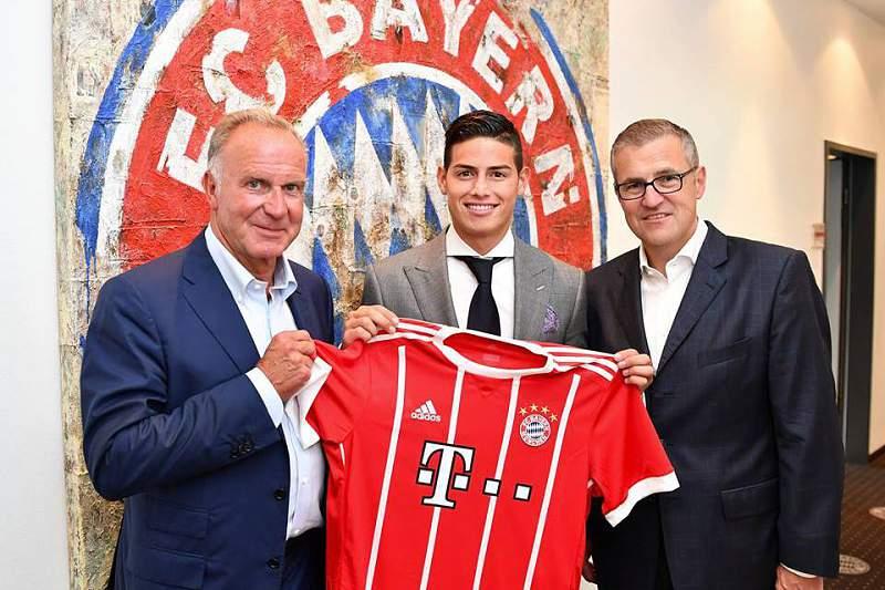 James no Bayern de MUnique