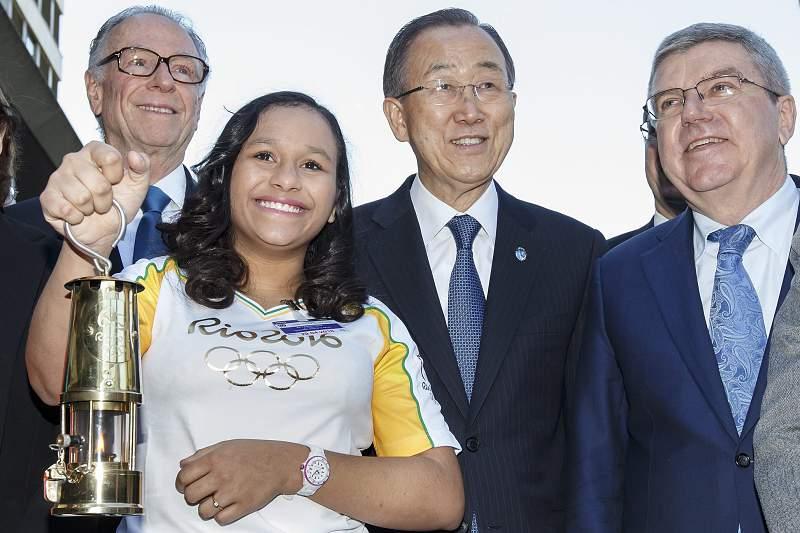Chama olímpica na sede da ONU e sem abordagem à crise brasileira