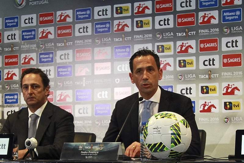 Pedro Proença na conferência de imprensa da final Taça da Liga