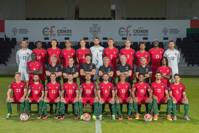 Fotografia oficial da seleção nacional para o Euro2016