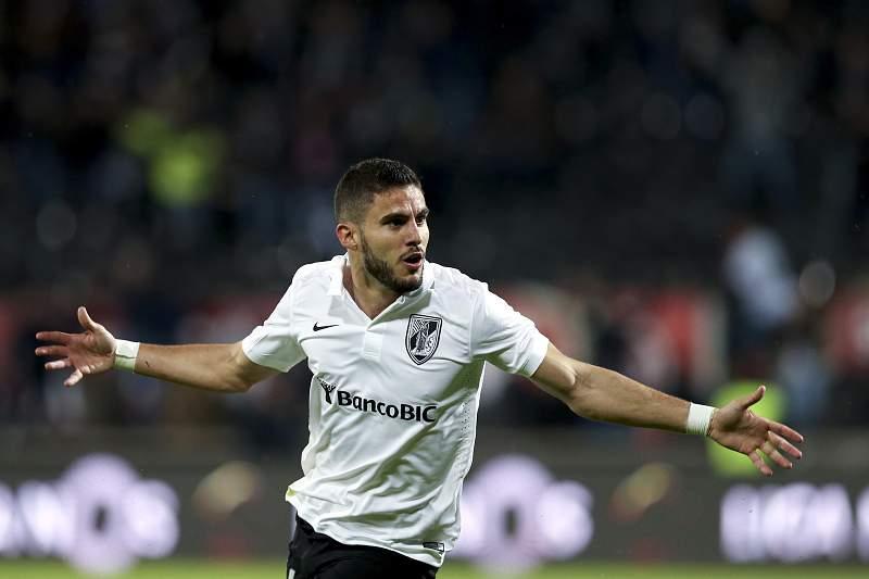Ricardo Valente celebra o golo do Vitória sobre o SC Braga