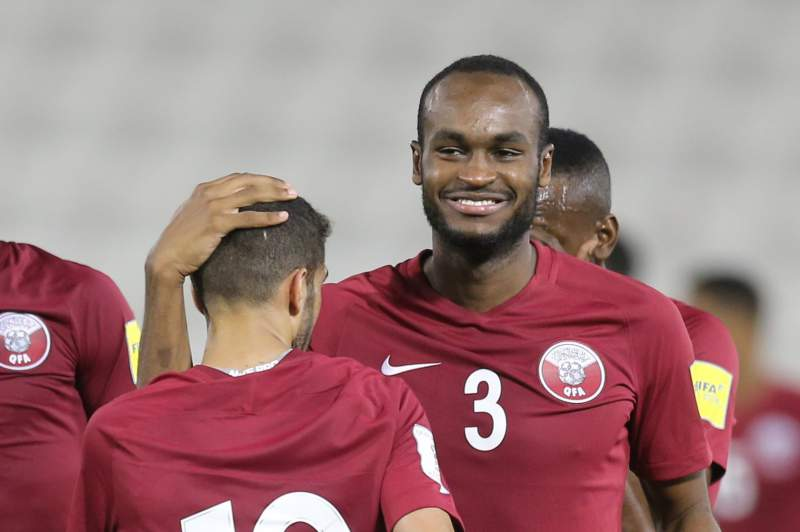 Hasan Al Haydos celebra um golo do Qatar sobre a Coreia do Sul