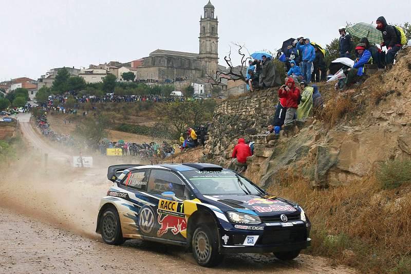 Sebastien Ogier em ação no Rali da Catalunha