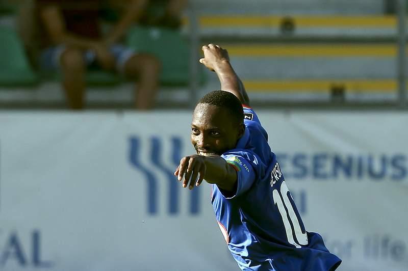 Gerso do Belenenses celebra um golo contra o Tondela