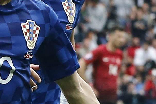 Luka Modric celebra o golo da Croácia sobre a Turquia