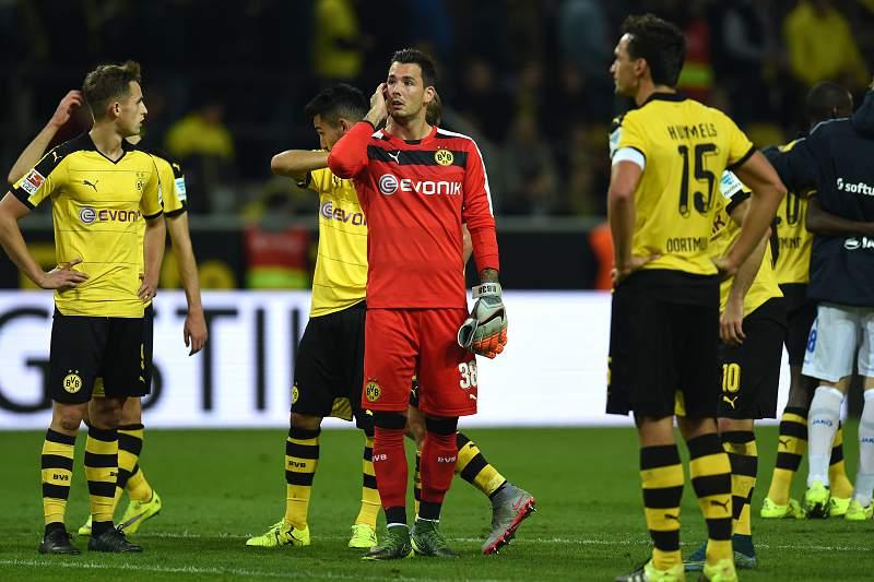 Jogadores do Borussia Dormund desolados