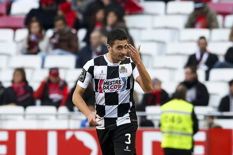 Lucas celebra um golo no Estádio da Luz