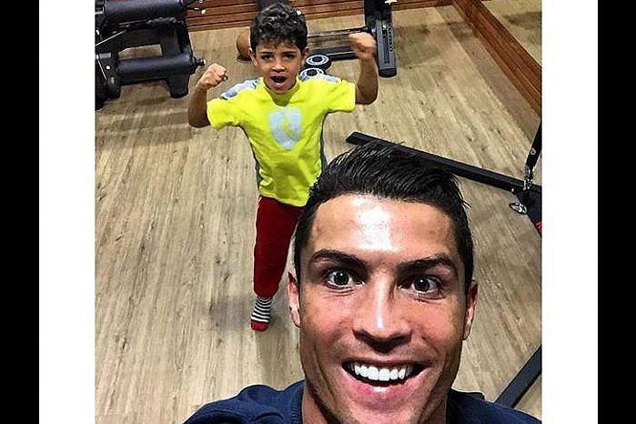 Cristiano Ronaldo é muito ativo nas redes sociais