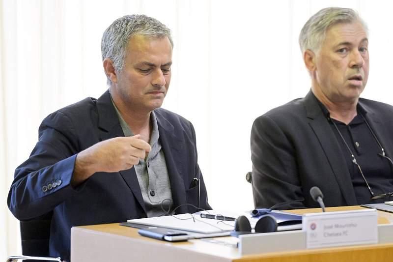 José Mourinho e Carlo Ancelotti