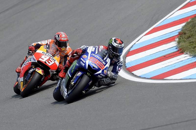 Jorge Lorenzo (Yamaha) e Marc Marquez (Honda)