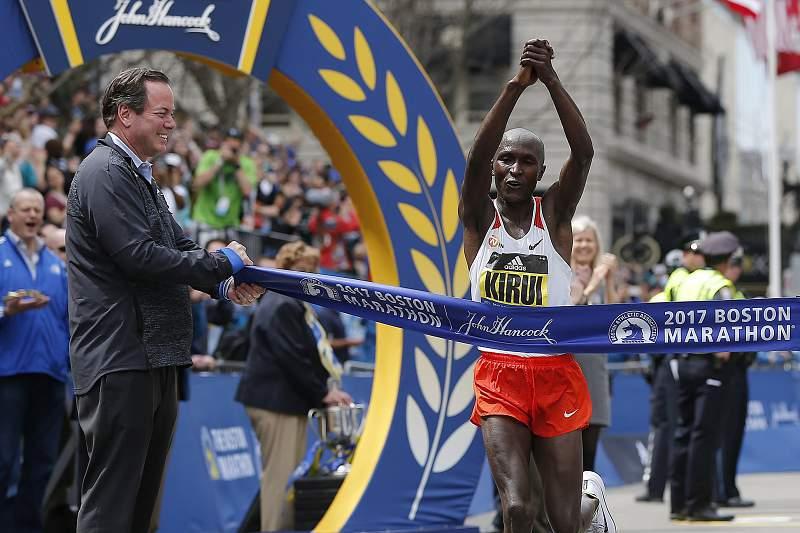 Geoffrey Kirui venceu a 121ª edição da Maratona de Boston