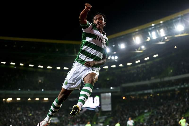 Gelson Martins celebra golo pelo Sporting