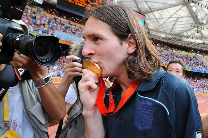 Lionel Messi conquistou a medalha de Ouro nos Jogos Olímpicos de 2008
