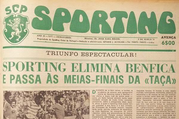 Sporting vence Benfica no dérbi de 5 de março de 1978