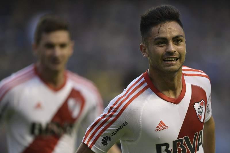 Gonzalo Martínez celebra um golo pelo River Plate