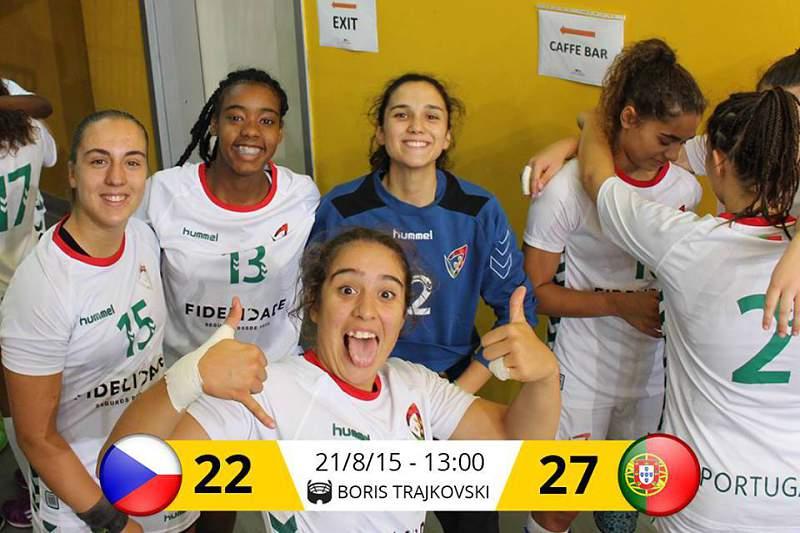 Portugal vence República Checa e vai disputar o 13.º lugar