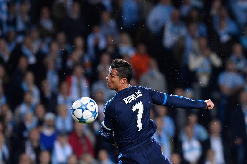 Cristiano Ronaldo em ação frente ao Malmo