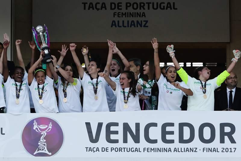 Futebol feminino: Sporting vence Taça de Portugal frente ao SC Braga e garante a dobradinha