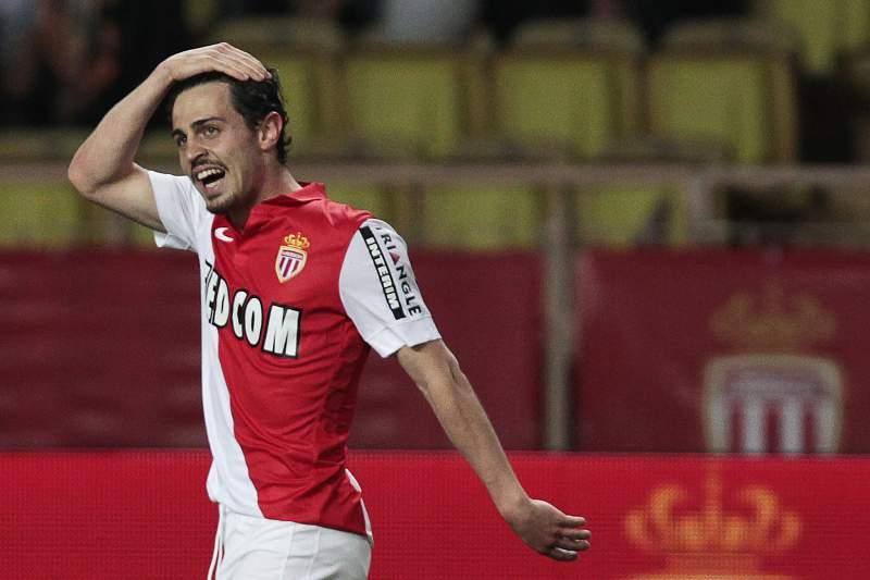 Bernardo Silva marcou pelo Mónaco frente ao Rennes