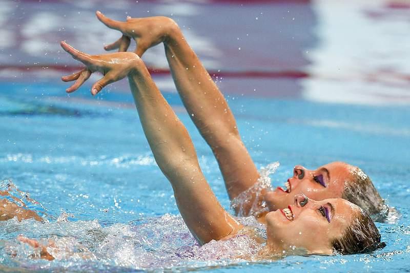 Dupla de dueto técnico em 34.º nos Mundiais de natação sincronizada de Kazan