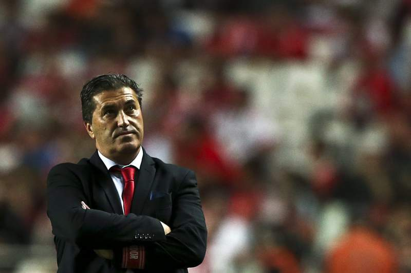 José Peseiro reage durante o jogo no Estádio da Luz entre Benfica e Braga