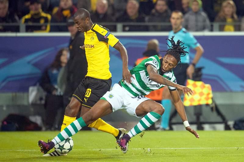 Ruben Semedo em ação no jogo frente ao Borussia Dortmund