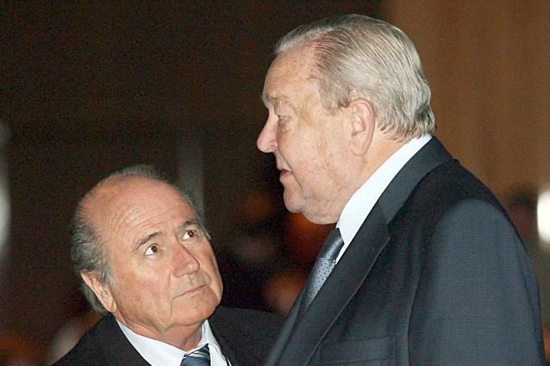 Lennart Johansson e Joseph Blatter