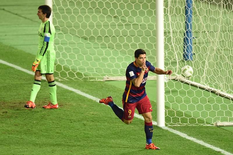 Suárez marcou dois golos