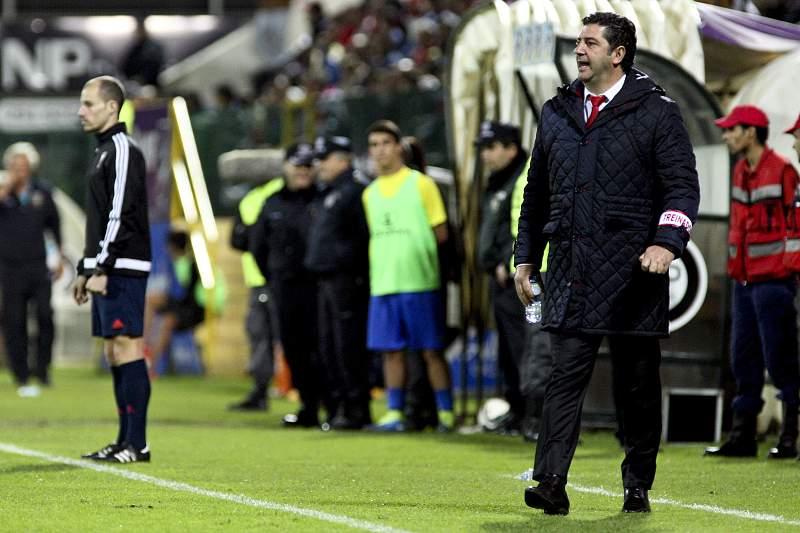 Rui Vitória durante o jogo com o União da Madeira