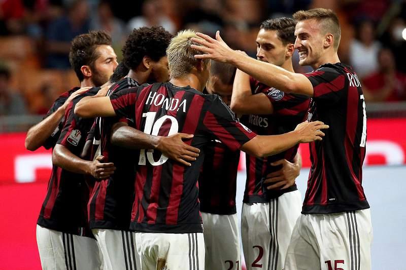 AC Milan festeja golo